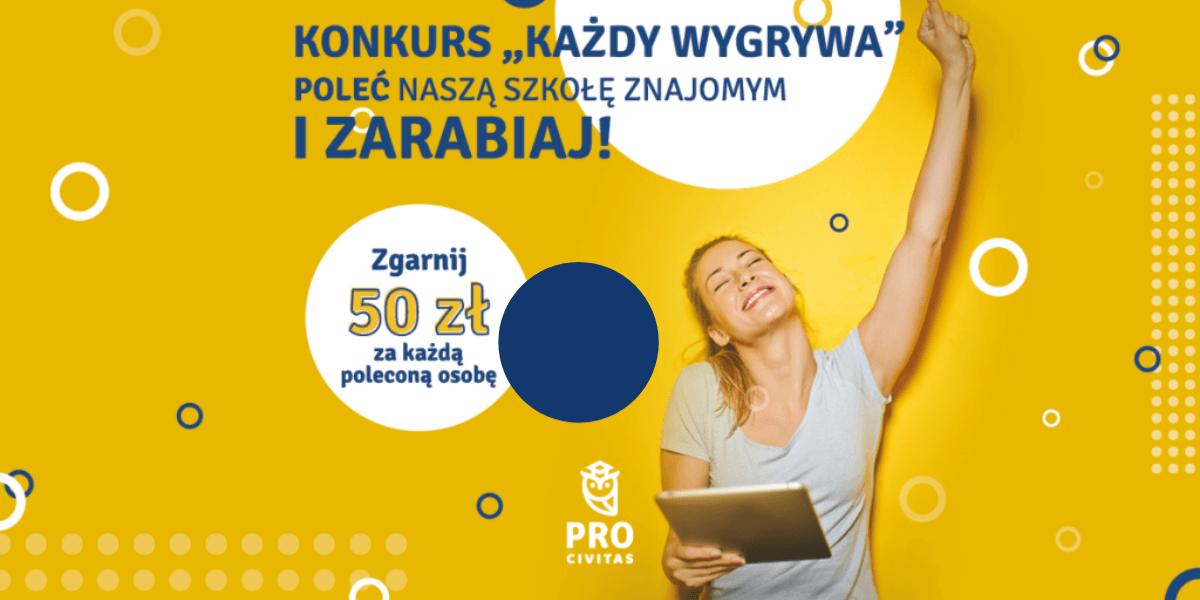 Konkurs Każdy wygrywa w PRO Civitas - polecaj słuchaczy i zgarnij nagrody!